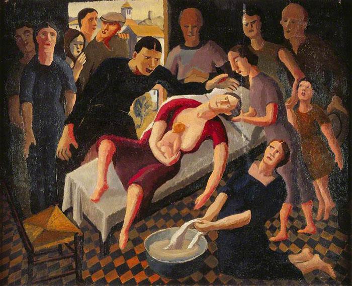 Рождение ребенка дома. Автор: Karl Hagedorn.