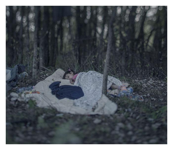Ламар, 5 лет. Спит на земле, Хоргос, Сербия.