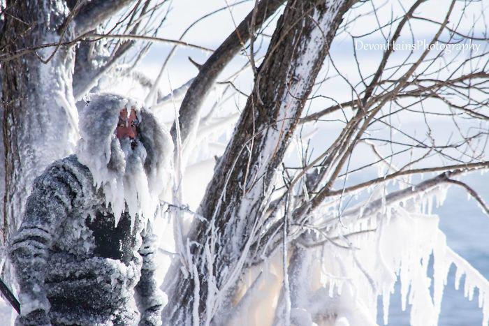 Во время полярного вихря.