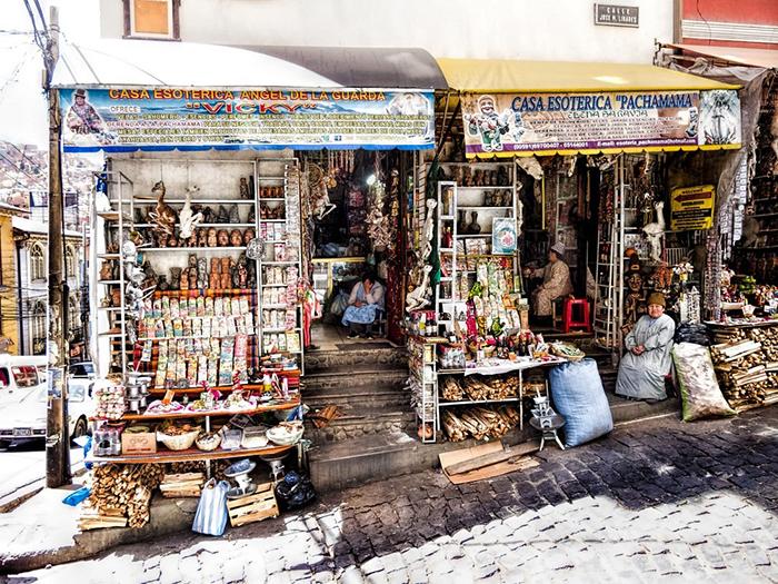 Рынок для ведьм в Ла-Пас.