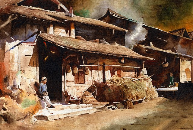 Акварели художника из Тайваня.