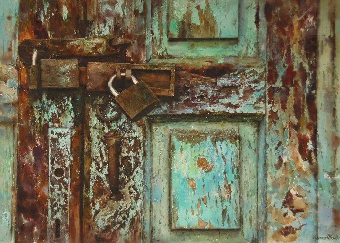 Старая дверь.