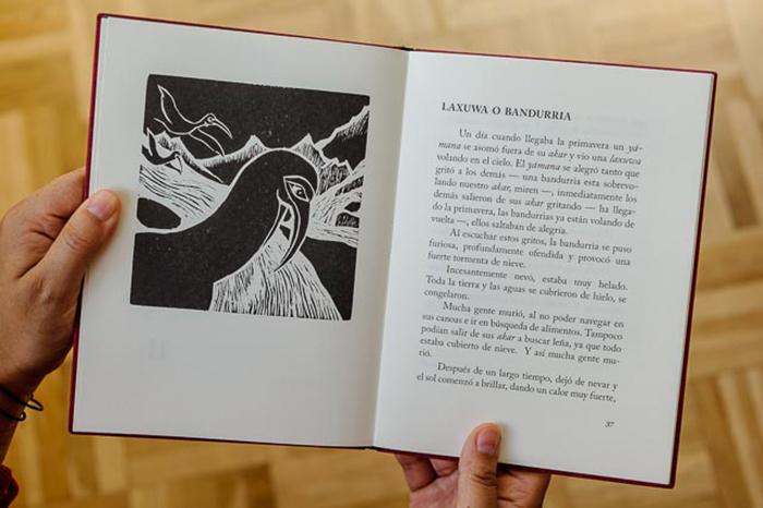 Один из разворотов книги, написанной Кристиной Кальдерон.