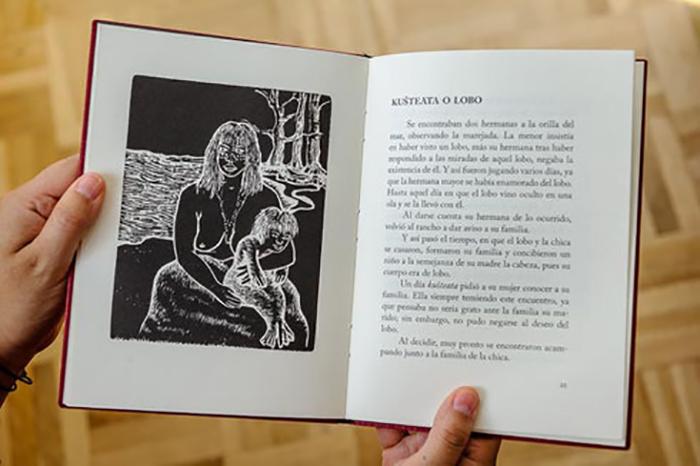 Кристина написала книгу сказок и преданий на своем родном языке.