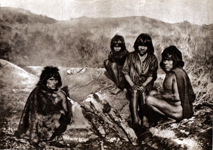 Индейцы яган жили на юге Южной Америки.