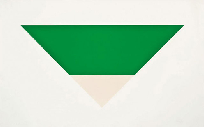 *Green White* Ellsworth Kelly.