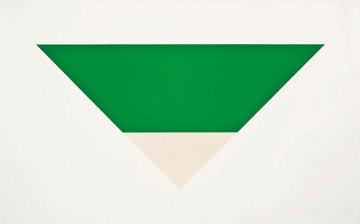 *Green White* Ellsworth Kelly.