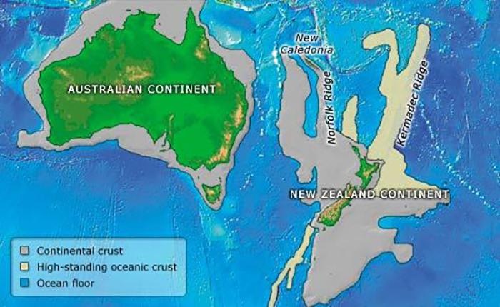 Расположение нового континента.