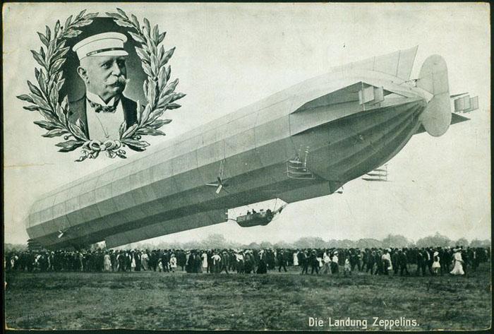 Открытка с портретом основателя компании Zeppelin - Фернидинд Граф фон Цеппелин.