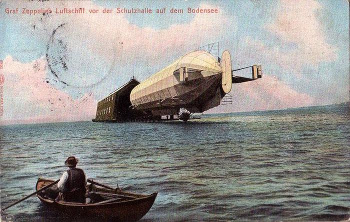 Одна из самых ранних открыток, на которой изображен  Graf zeppelin.