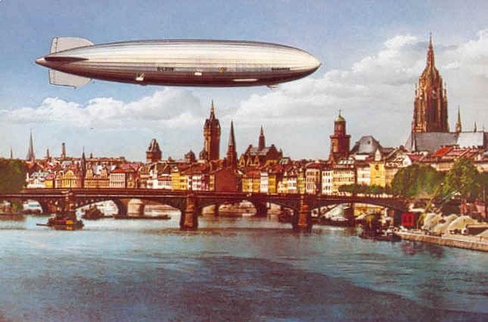 30е годы, расцвет использования дирижаблей в Европе.