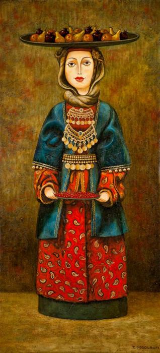 Женщина с фруктами. Автор: Zviad Gogolauri.