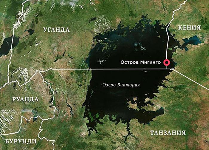 Именно здесь, на спорной территории, между Кенией и Угандой, находится самый густонаселённый остров мира.