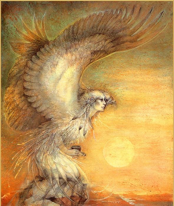 Часто женщин-шаманов изображали мифическими существами.