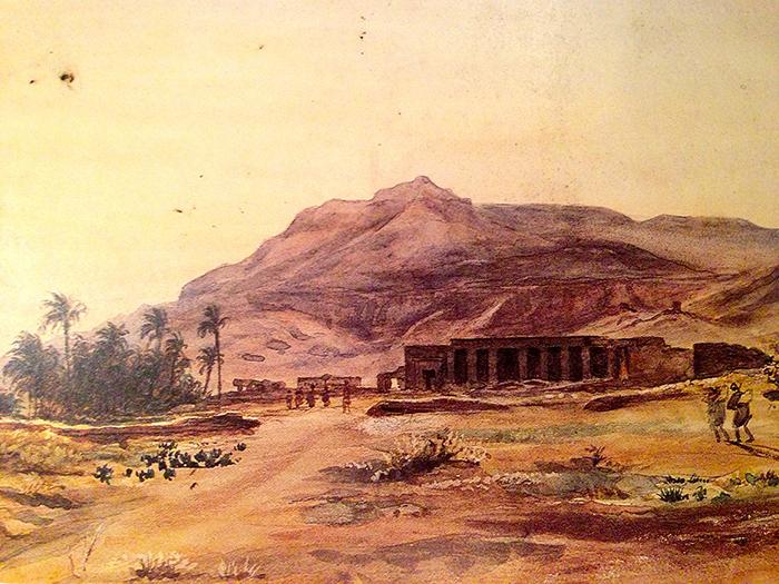 Заброшенные руины египетского храма.