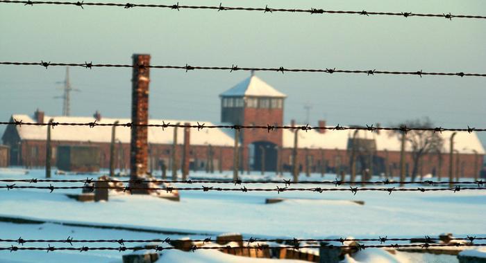 Нацистский концлагерь Освенцим.