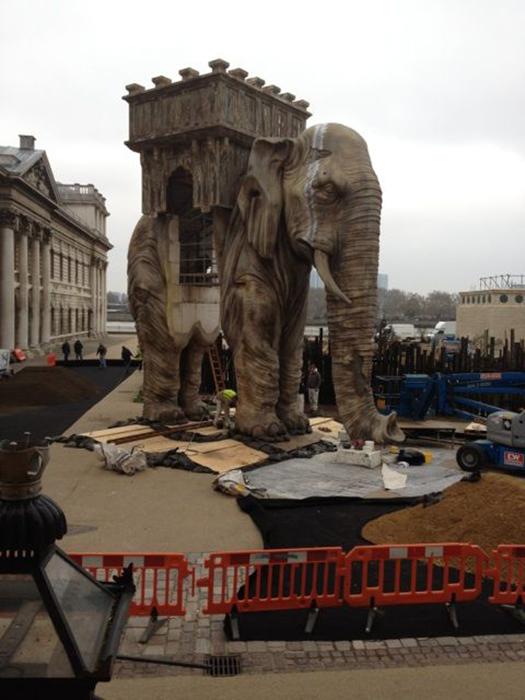 Состояние слона было жалким.