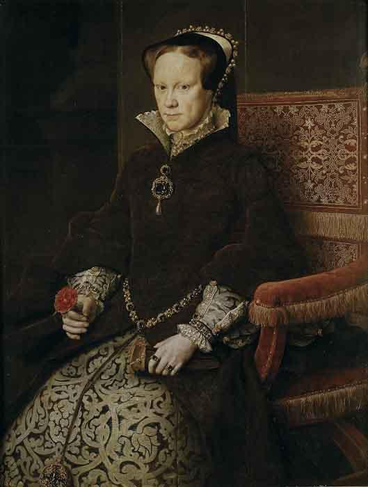 Мария I Тюдор, дочь Екатерины Арагонской и Генриха VIII.