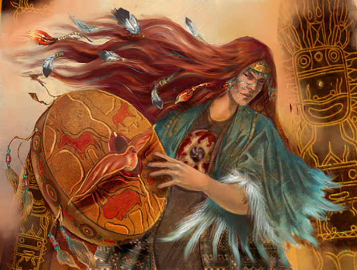 Одно из изображений женщины-шамана, которых часто почитали как богинь.