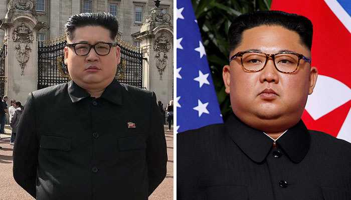 Ким Чен Ын и его копия.