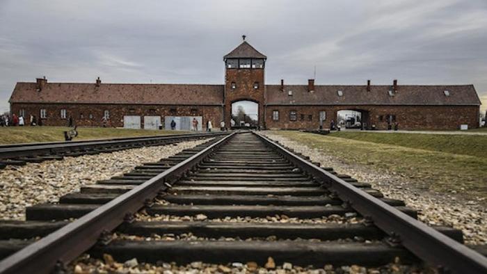 Въезд в Освенцим.