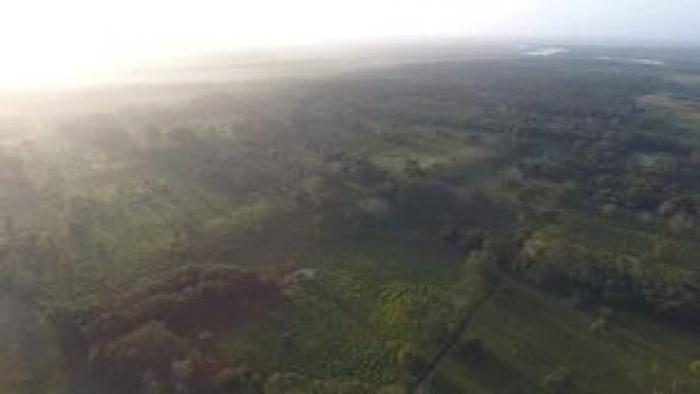 Аэрофотоснимок главного плато Агуада Феникс.