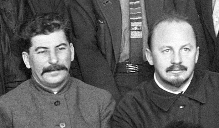 Сталин и Бухарин.