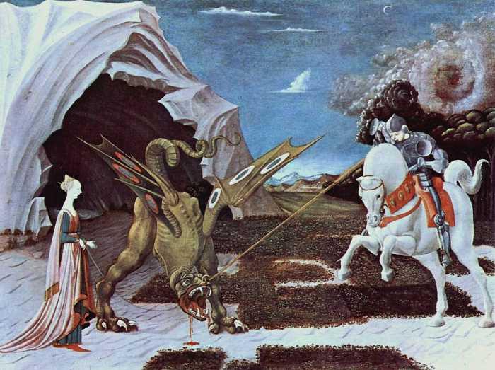 Святой Георгий и дракон, Паоло Уччелло.