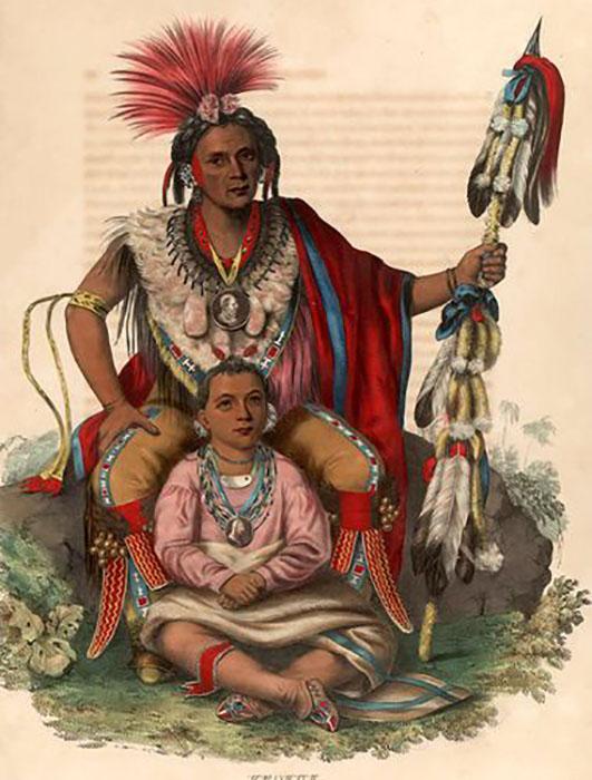 Индейцы-мескваки (лисы).