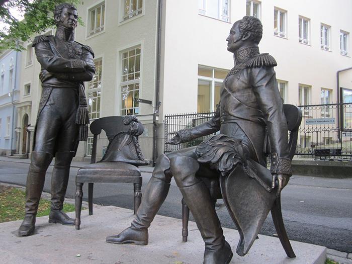 Историческая встреча Александра I и Карла Юхана в 1812 году.