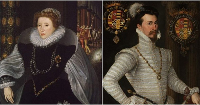 Елизавета Тюдор и Роберт Дадли.
