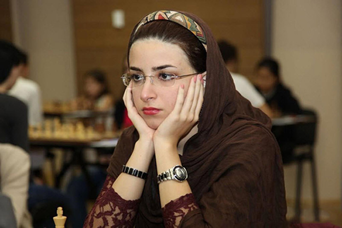 Дорса Дерахшани на соревнованиях за сборную Ирана.