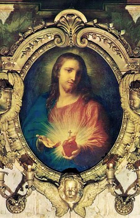 Изображение Святого Сердца Иисуса, работы Помпео Батони, 1760 год.