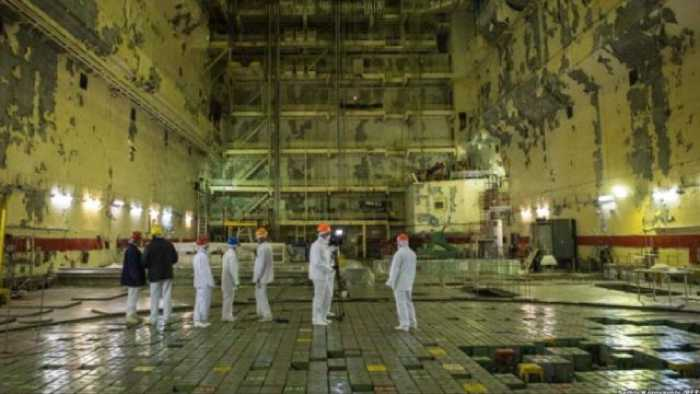 Закрытый зал под четвёртым реактором.