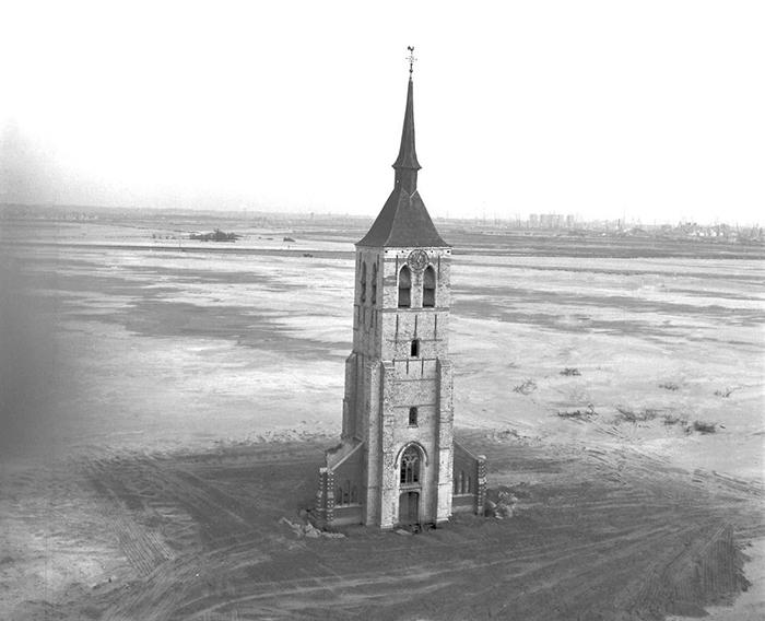 Одинокая башня, после того, как Вилмарсдонк был разрушен.