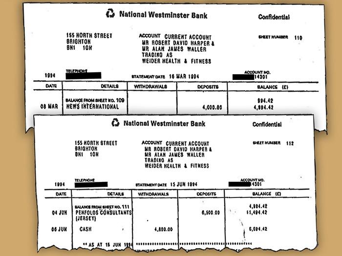 Фальшивые выписки с банковских счетов.