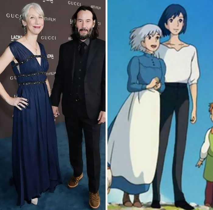 Александра и Киану очень похожи на Софи и Хаула.