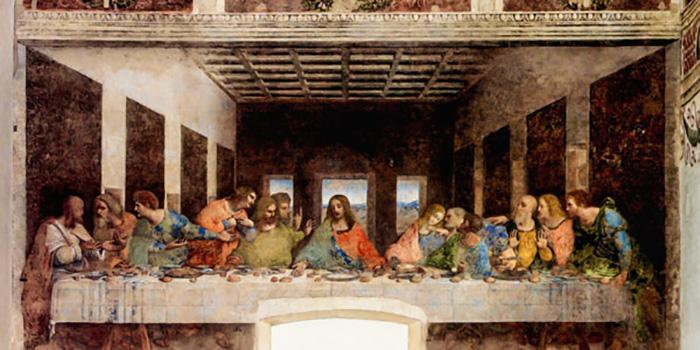 Тайная вечеря. Фреска Леонардо да Винчи.