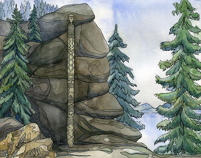 Так, возможно, был расположен Шигирский идол.