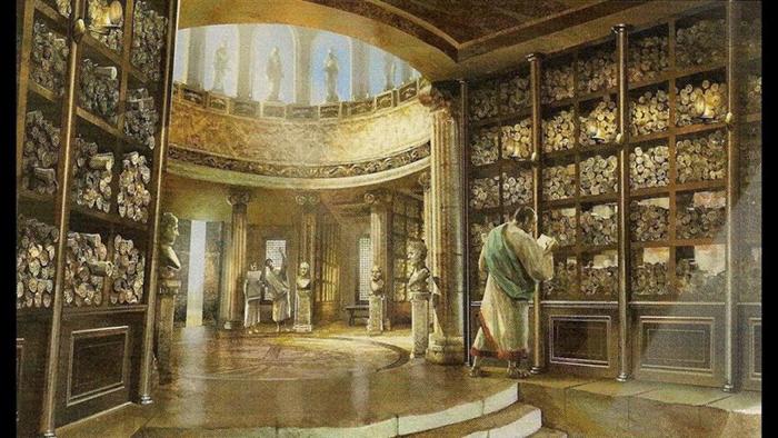 Художественная интерпретация библиотеки Тимгада.
