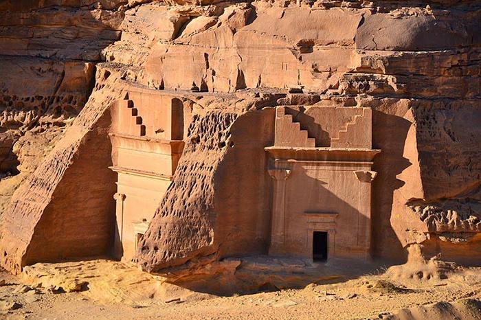 Ещё одна гробница в древнем набатейском городе.