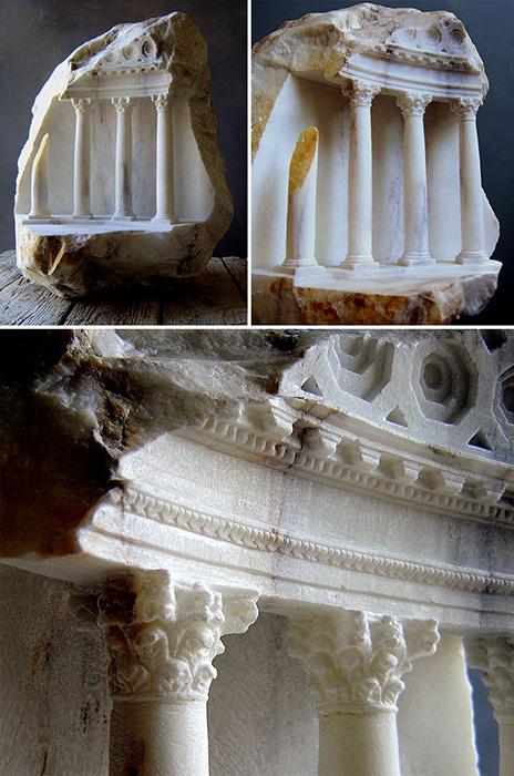 Арт-объекты представляют сложные «внутренние миры» архитектурных сооружений.