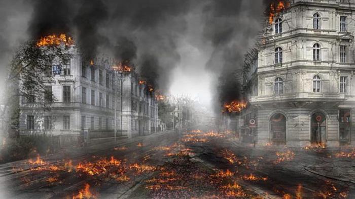Действие романа «Последний человек» происходит в постапокалиптической обстановке.
