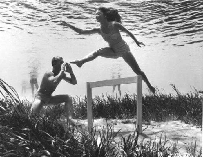 Уникальные подводные фото Мозерта вплоть до 70-х годов 20 века служили отличной рекламой Сильвер Спрингс.