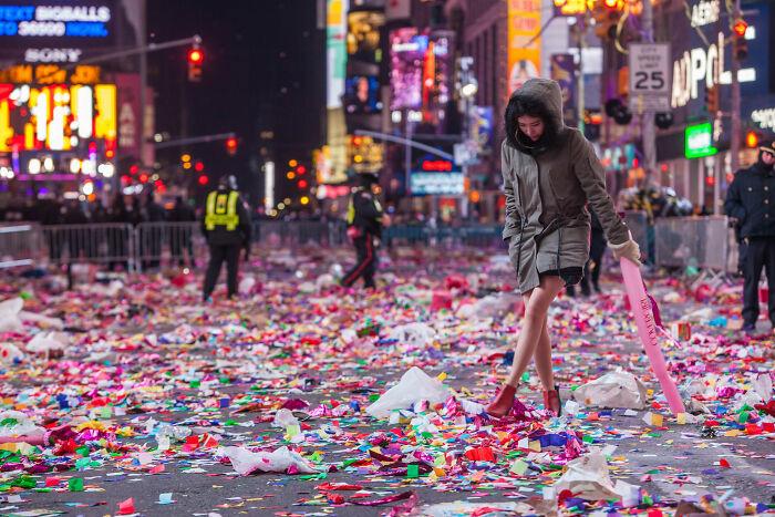 Таймс-сквер на Новый год.