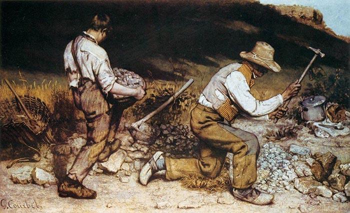 «Дробильщики камня», Гюстав Курбе.