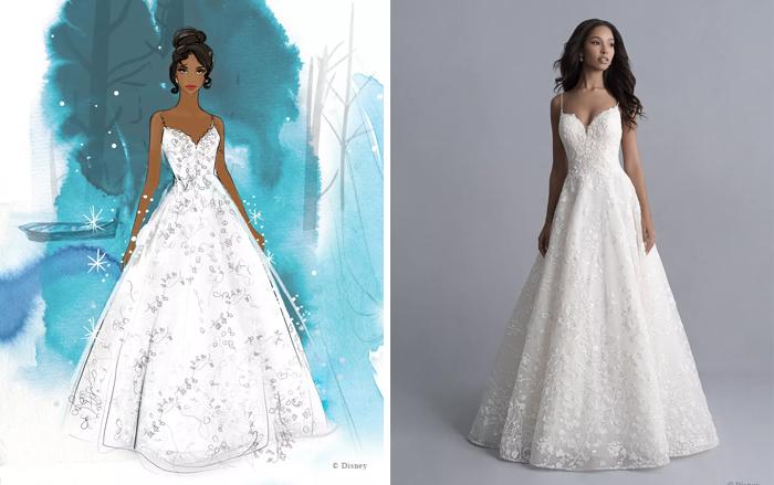 Свадебное платье принцессы Тианы.