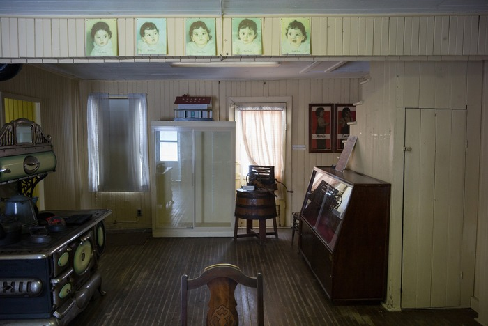 Музей пятерняшек в доме где они жили.