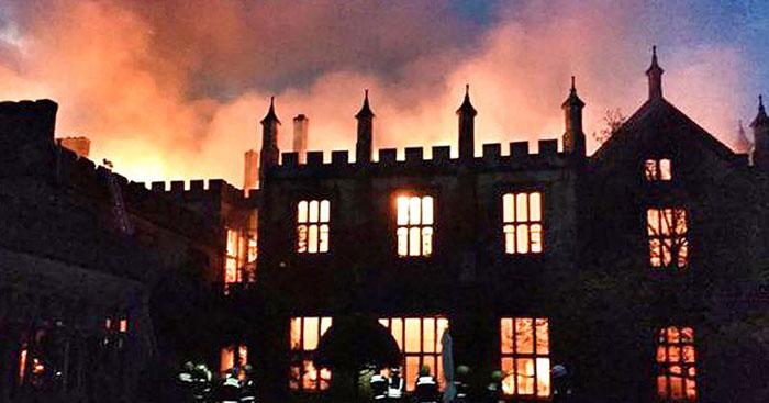 Пожар подозрительного происхождения случился в Парнхем Хаус в 2017 году.