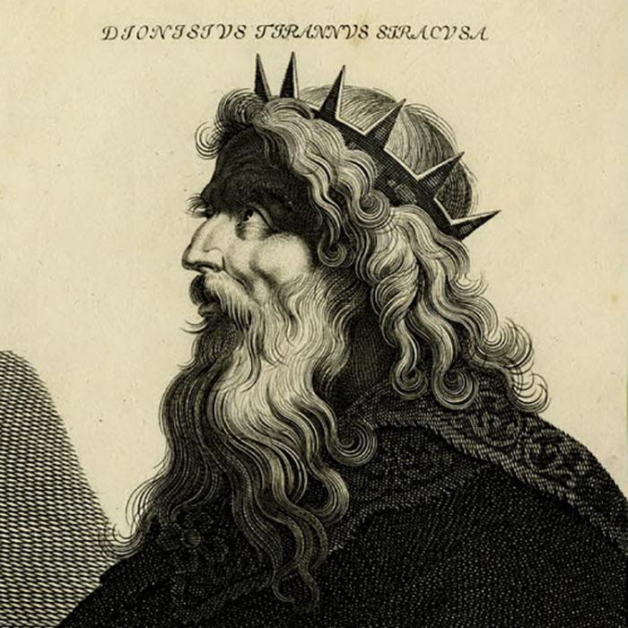 Гравюра времён эпохи Возрождения, на которой изображён Дионисий.